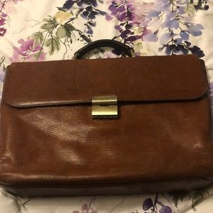 Brown Leather Men's Leather Briefcase 💼